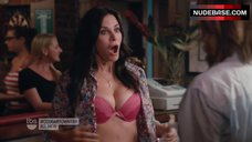 Courteney Cox Flashes Lingerie – Cougar Town