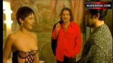 Elisabetta Cavallotti Tits in See-Through Top – Guardami
