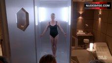 Jamie Lee Curtis in Black Swimsuit – Scream Queens