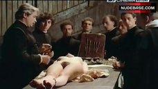 Beatrice Dalle Lying Nude on Table – La Visione Del Sabba