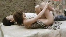10. Ana Risueno Bare Breasts and Hairy Bush – Bajo La Piel