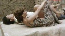 8. Ana Risueno Bare Breasts and Hairy Bush – Bajo La Piel