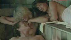 Jeana Tomasina Topless in Sauna – The Beach Girls