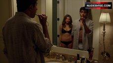 Sarah Chalke in Black Underwear – Really