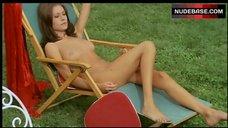 Angela Covello Nude Sunbathing – Torso