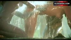 Bo Derek Nude Showering  – Tarzan, The Ape Man