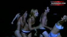 Monet Mazur Flashes Lingerie on Night Beach – Kiss The Bride