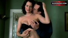 Paget Brewster in Sexy Black Lingerie – Huff