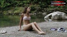 2. Crystal Lowe in Lingerie on Beach – Wrong Turn 2: Dead End