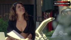 Alanna Ubach in Black Bikini – Men Of A Certain Age