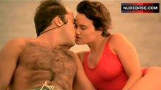 Carla Gugino Pokies Through Swimsuit – Miami Rhapsody