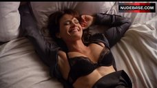 Carla Gugino in Black Underwear – Californication