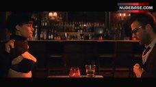 Carla Gugino Shows Underwear in Bar – Girl Walks Into A Bar