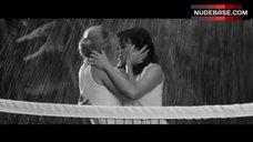 Carla Gugino Lesbian Kissing under Rain – Hotel Noir