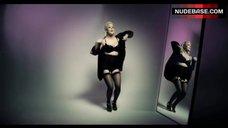 Caroline Flack Dancing in Lingerie – Love Advent Calendar Shoot