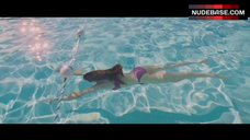 Olga Kurylenko Swimming in the Pool – To The Wonder