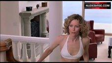1. Leslie Mann In Sexy White Bikini – Orange County
