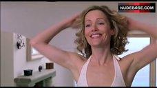 6. Leslie Mann In Sexy White Bikini – Orange County