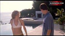 8. Leslie Mann In Sexy White Bikini – Orange County