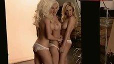 8. Holly Madison Topless Scene – The Girls Next Door