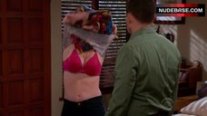 Courtney Thorne-Smith in Pink Bra – Two And A Half Men