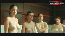 Emeline Bayart Group Showering – 3 Zeros