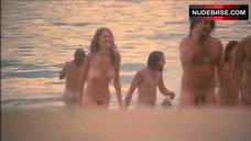 Rebecca Gilling Nude on Beach – Stone