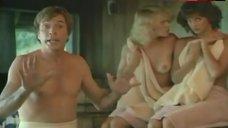 Val Kline Shows Boobs in Sauna – The Beach Girls