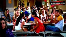 5. America Ferrera Flashes Panties in School Cafeteria – Ugly Betty