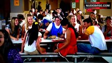 6. America Ferrera Flashes Panties in School Cafeteria – Ugly Betty
