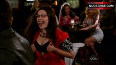 8. America Ferrera Shows Tits in Bra – Ugly Betty