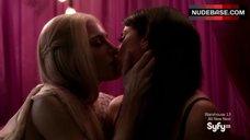 Mia Kirshner Lesbian Kiss – Defiance