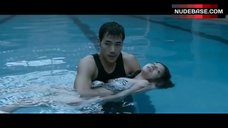 9. Maui Taylor Topless in Pool – The Taste Of Money