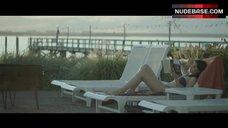 Felicity Jones Bikini Scene – Breathe In