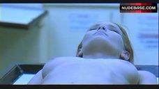 Cindy Roubal Lying Nude on Table – The Badge