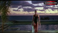 Carey Lowell Sexy in Wet Swimsuit – Dangerously Close