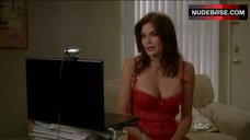 Sexy Teri Hatcher in Red Underwear – Desperate Housewives