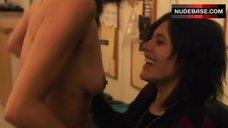 Angela Gots Topless in Lesbian Scene – The L Word