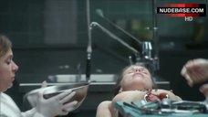 Tanja Schleiff Naked on Table – Tatort