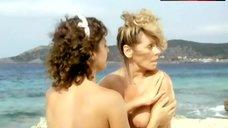 Gudrun Velisek Topless on Beach – Sunshine Reggae Auf Ibiza