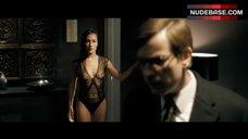 Maggie Q in See-Through Bodysuit – Deception
