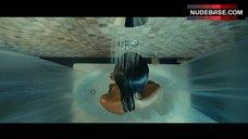 Zoe Saldana Bare Breasts in Shower – Colombiana