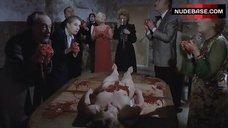 Charlotte De Turckheim Naked on Table – Night Of Death!