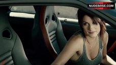 Missy Peregrym Sexy in Car – Cybergeddon