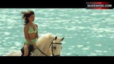 Caterina Murino Riding Horse in Bikini – Casino Royale