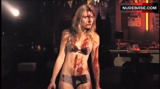 Bloodied Sarah Carter in Lingerie – Red Mist