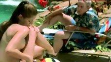 Pilar M. Lastra Topless near Pool – Las Vegas