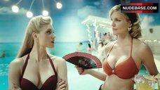 Tricia Helfer in Red Bikini – Ascension