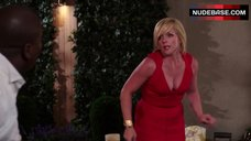 Jane Krakowski Sexy in Red Dress – Unbreakable Kimmy Schmidt