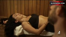 4. Natalie Martinez Removes Bra in Sauna – Kingdom